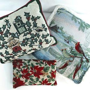 Winter Themed Three Pillow Bundle